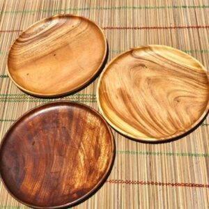 Wooden Round Board Tray with Edge (Pizza Tray) pizza plate