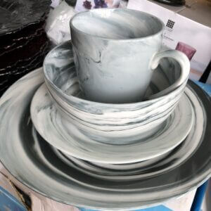 Sets Plate, Bowl & Cup set (GRAY) bowl
