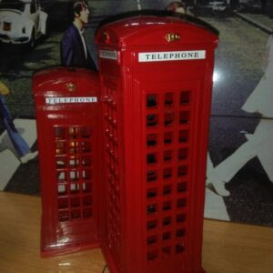 Figurines London Telephone Booth Table Decor home decor
