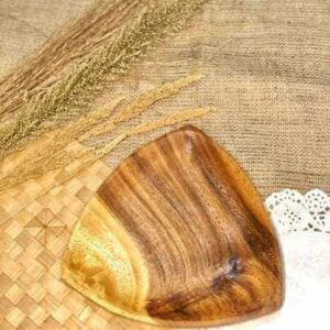 Wooden Soft Edge Triangle Wooden Plate local products