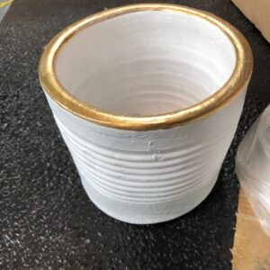 Pots White Gold Pot (6.3″) plantitas
