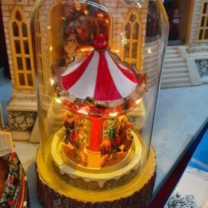 Figurines Carousel Lighted Figurine center table decor