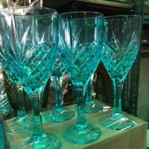 Glass Wine Goblets Glass (6 pieces) drinking glass