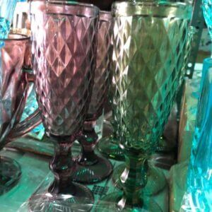 Glass Tall Goblets Glass (4 pieces Set) drinking glass