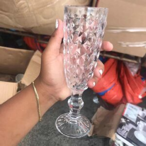Glass Clear Flute Glass clear glass