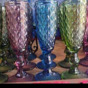 Glass Blue Goblets Glass Set of 4 glass