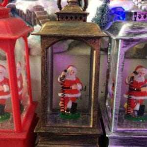 Figurines Battery Operated Snow Globe All about Christmas